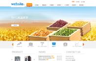 机械设备类企业网站模板(可视化)