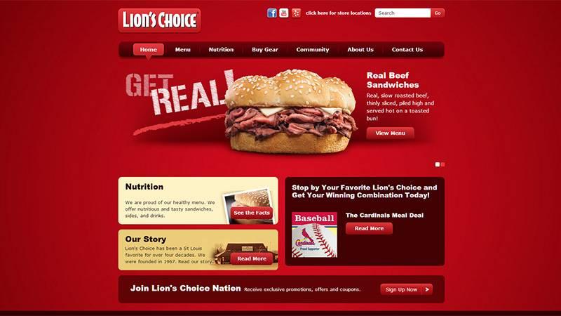 红色网站设计